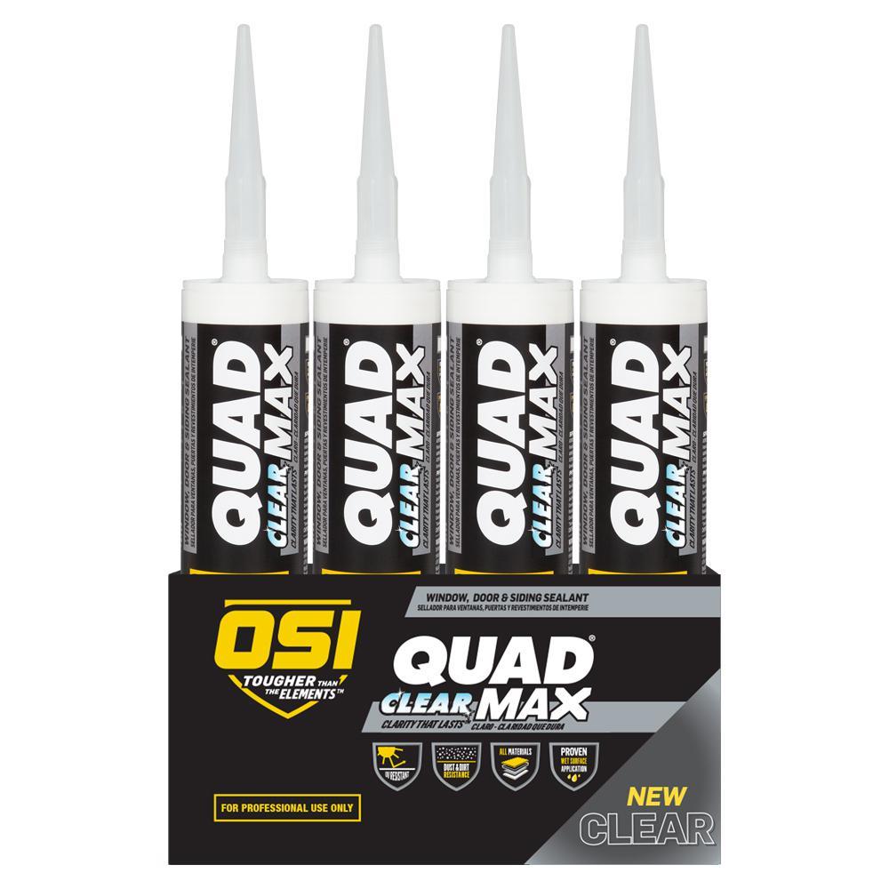 Quad Max Clear 9 fl. oz Window Door and Siding Sealant (12-Pack)