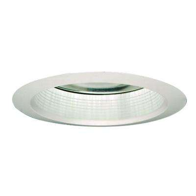 30 Series 6 in. White Recessed Ceiling Light Fixture trim with Air-Tite Baffle and Clear Reflector