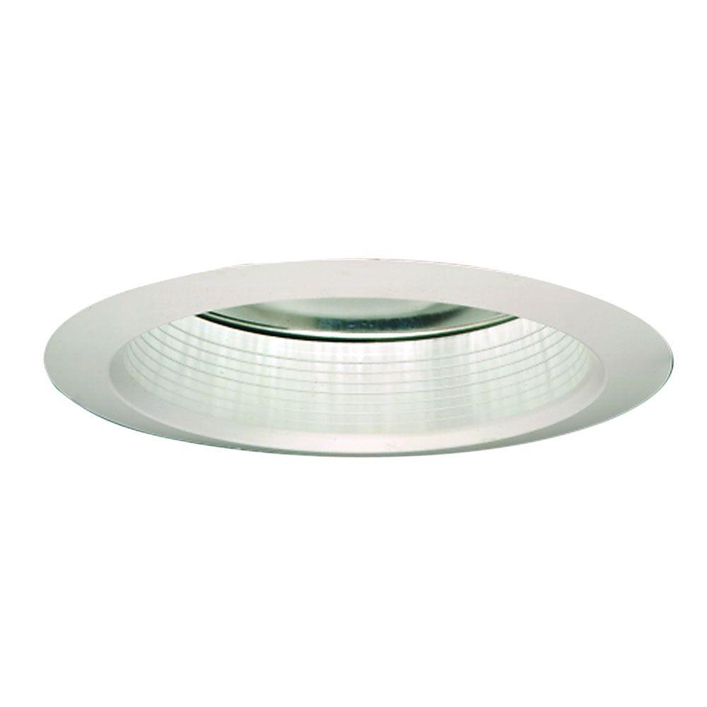 Halo 6 in. White Recessed Ceiling Light with Air-Tite Baffle Trim with Clear Reflector