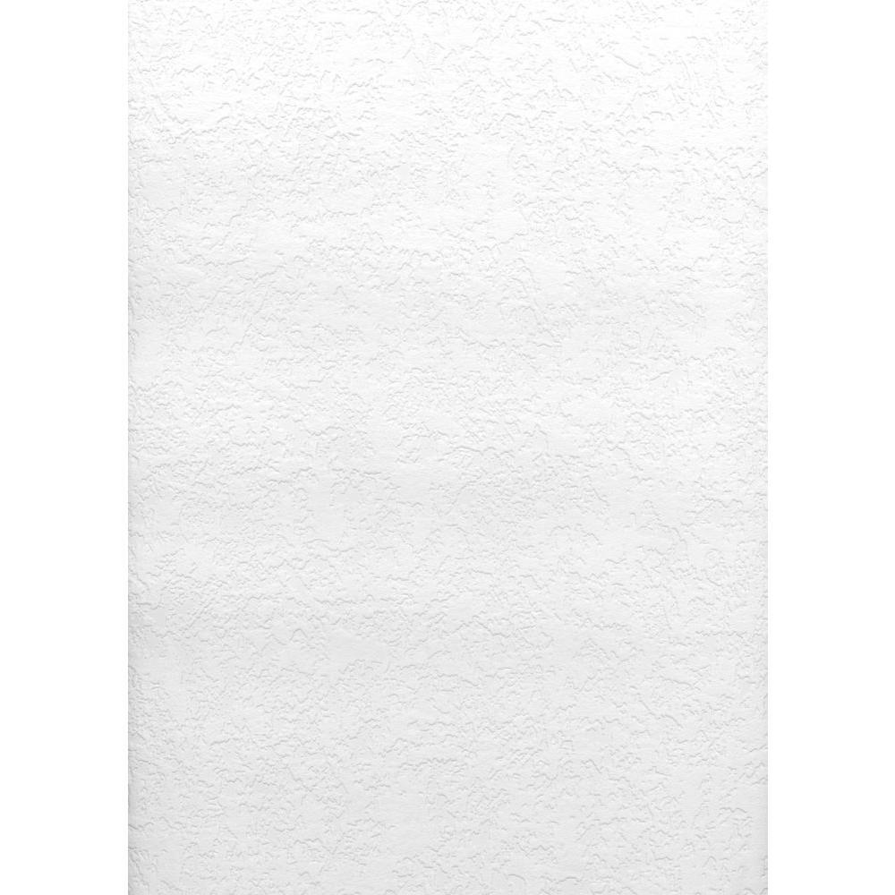Paintable Knock Down Plaster Texture Vinyl Peelable Wallpaper (Covers 56.4 sq. ft.)