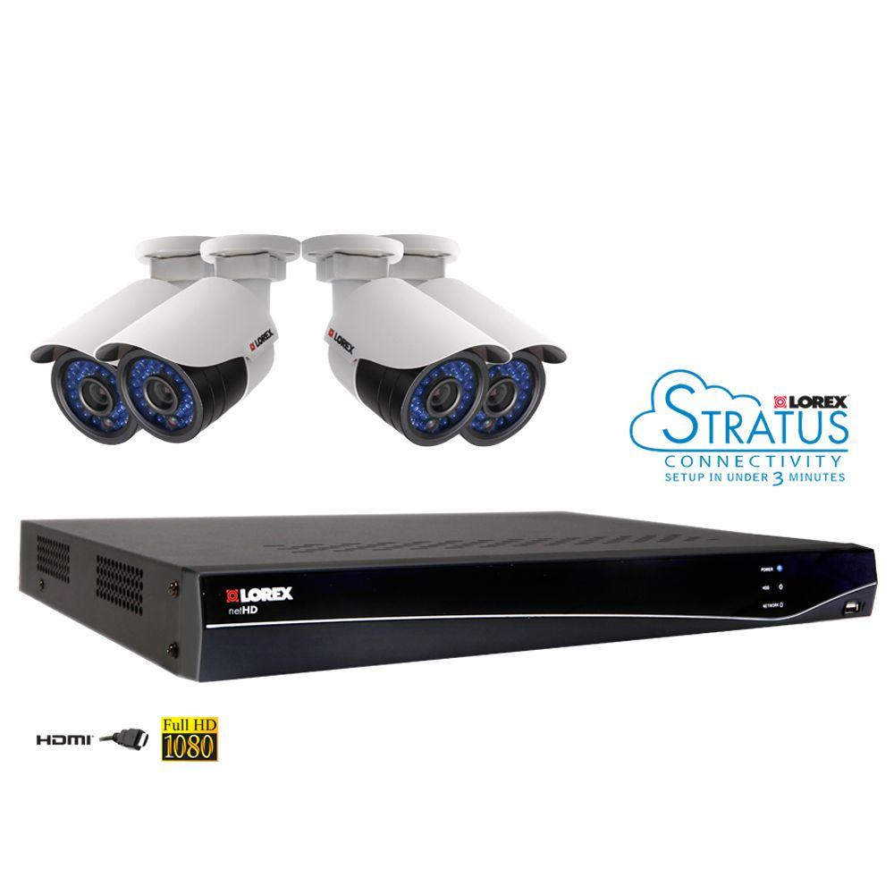 Lorex 8-Channel HD NVR Surveillance System with 2TB Hard Drive and 4 1080p IP Cameras