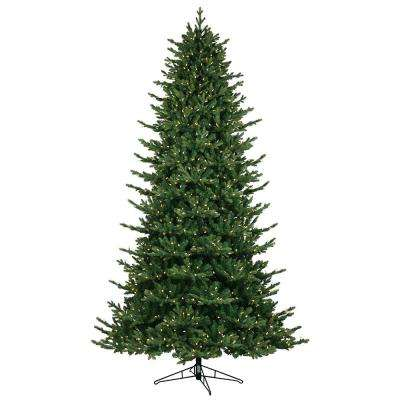 9 ft. Just Cut Canadian One Plug Artificial Christmas Tree with Warm White Led Lights