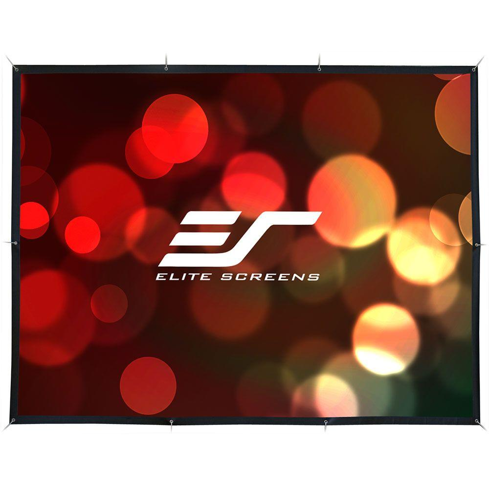 Elite Screens DIY 115 in. H x 153 in. W Indoor/Outdoor Fi...