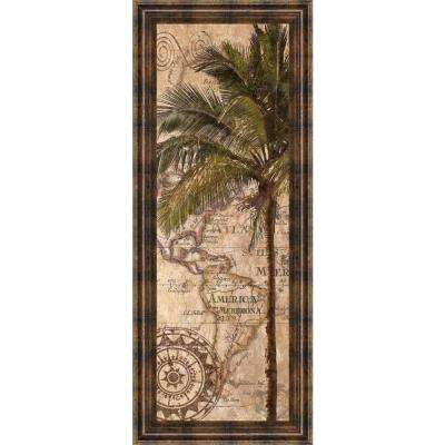"18 in. x 42 in. ""Exotic Desination II"" by Katrina Craven Framed Printed Wall Art"
