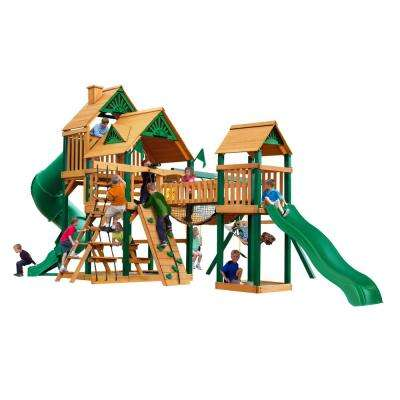 Treasure Trove I Cedar Swing Set with Timber Shield Posts