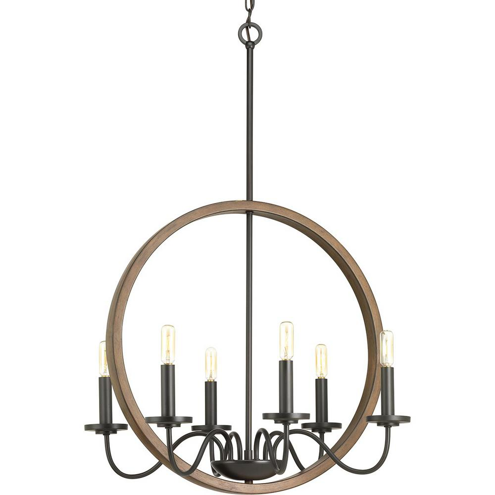 Fontayne Collection 6-Light Antique Bronze Chandelier