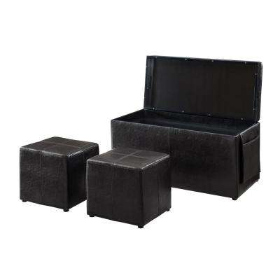 Ibiza 3-Piece Java Bench Set with Storage