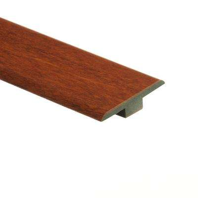 High Gloss Natural Jatoba 7/16 in. Thick x 1-3/4 in. Wide x 72 in. Length Laminate T-Molding