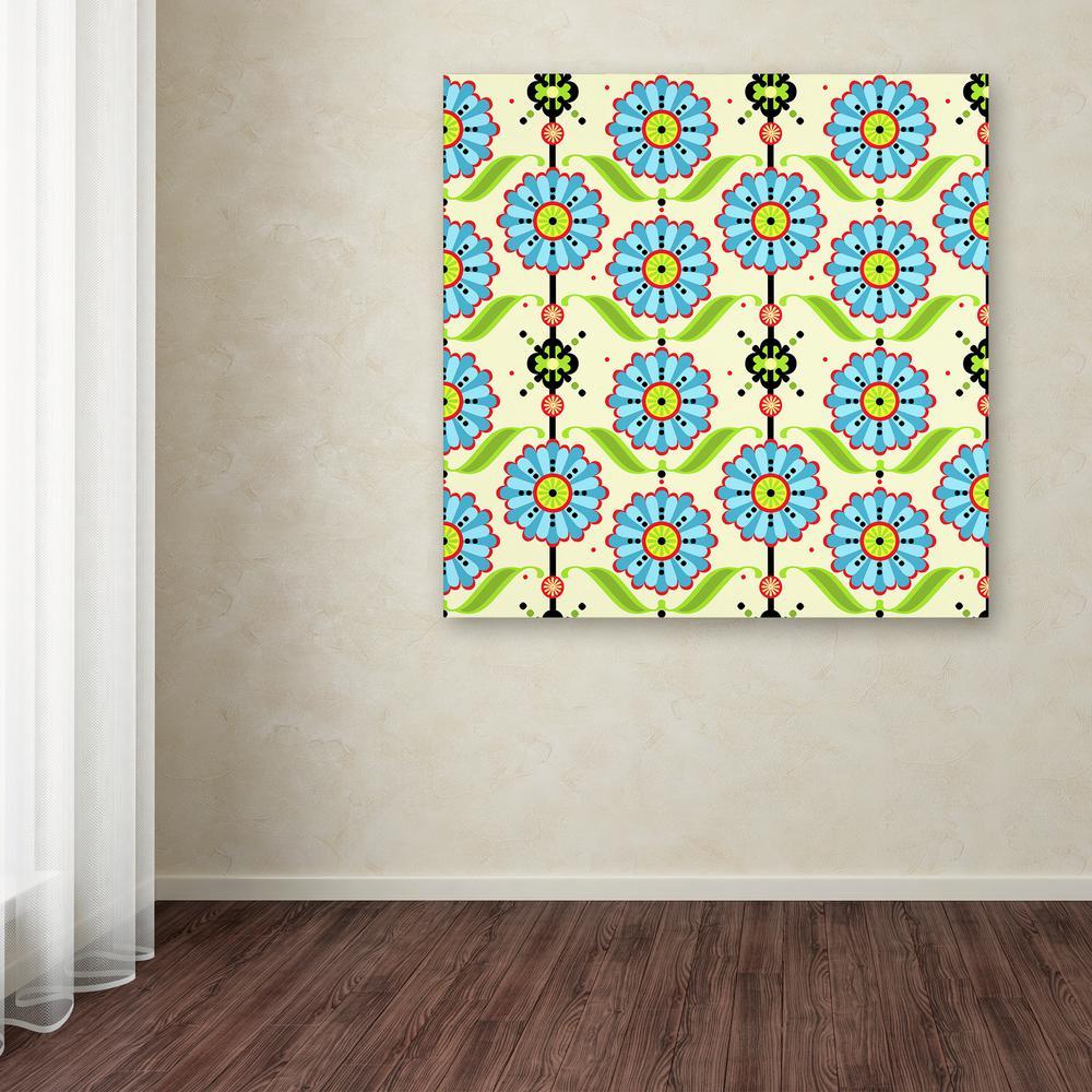Trademark Fine Art 14 in. x 19 in. ''Blue Daisy'' by