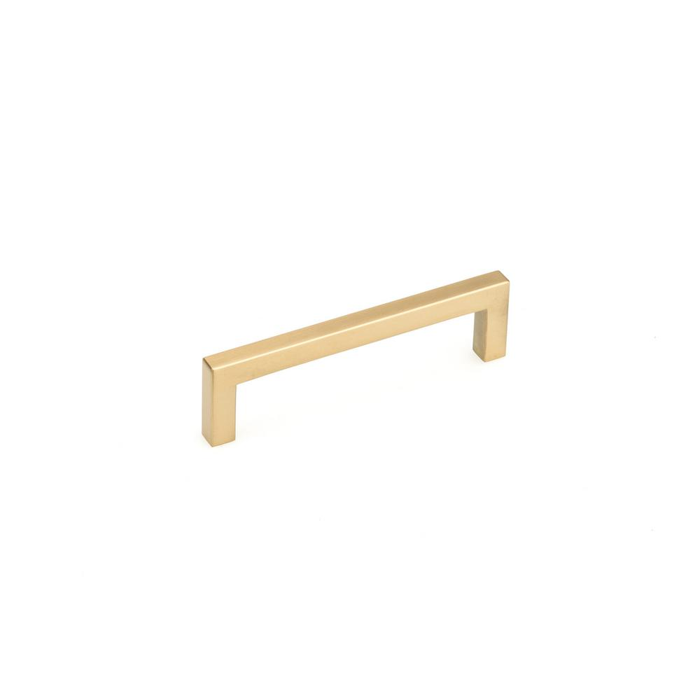 Richelieu Hardware 3-3/4 in. (96 mm) Aurum Brushed Gold Contemporary Drawer Pull