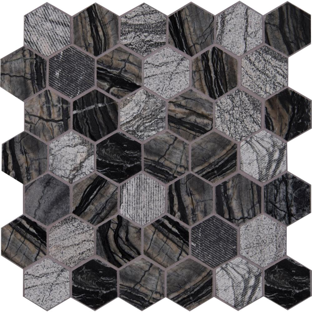 msi henley hexagon 12 in x 12 in x 10 mm textured marble