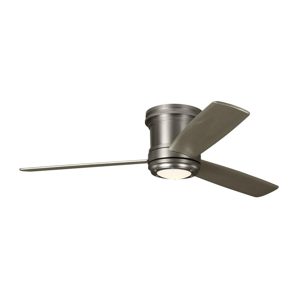 Monte Carlo TOB by Thomas O'Brien Aerotour Semi-Flush 56 in. Integrated LED Indoor Satin Nickel Ceiling Fan with Light Kit was $749.96 now $449.97 (40.0% off)