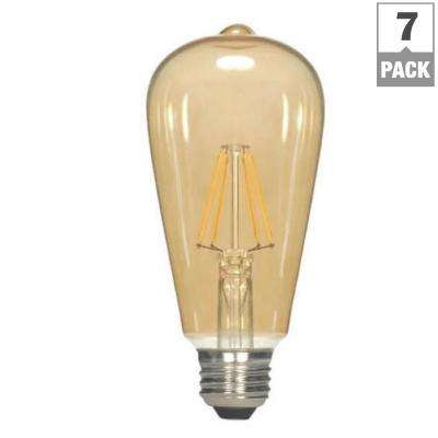 40W Equivalent Soft White ST19 Dimmable LED Vintage Style Light Bulb