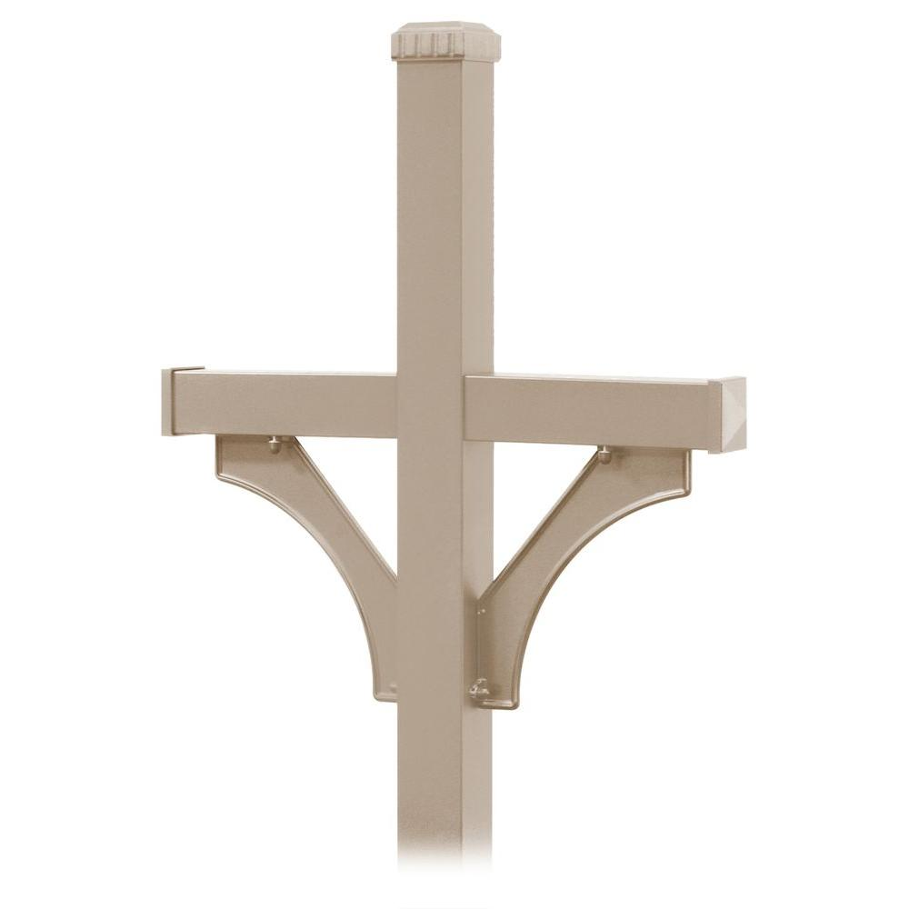 Salsbury Industries Deluxe 2-Sided In-Ground Mounted Mailbox Post for Rural  Mailboxes