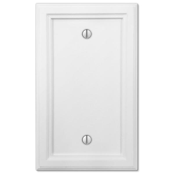 Elly 1 Gang Blank Composite Wall Plate - White