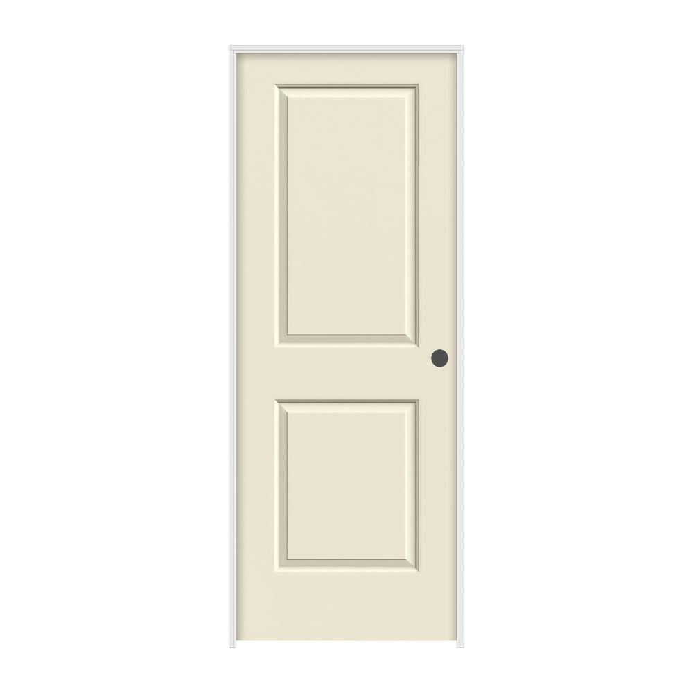 jeldwen 36 in x 80 in cambridge primed lefthand smooth molded composite mdf single prehung interior the home depot