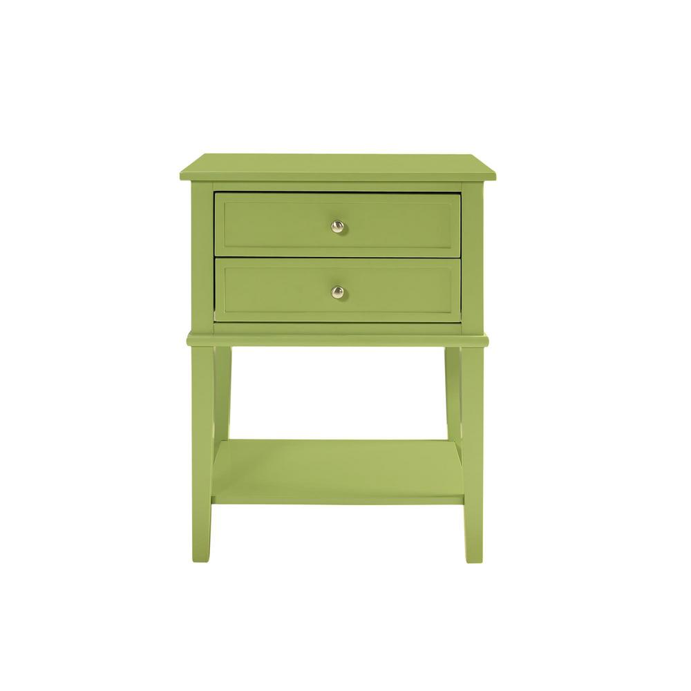 Queensbury Green Accent Table with 2-Drawers