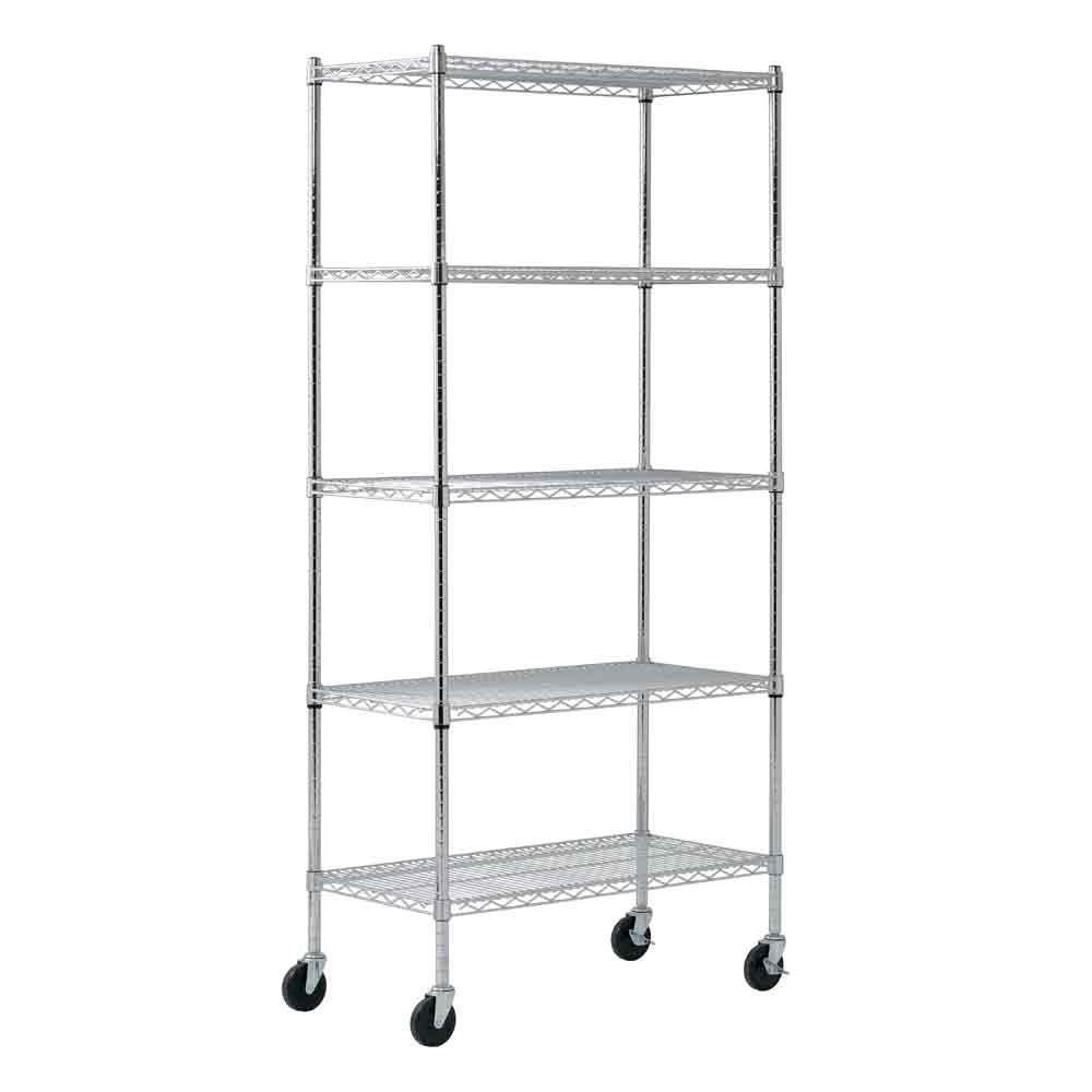 Chrome Trolley ZLJ 5-Shelf Shelving Unit