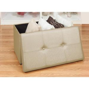 Remarkable Simplify Metallic Gold Double Folding Ottoman F 0647 Met Pabps2019 Chair Design Images Pabps2019Com