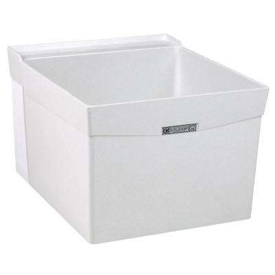 Utilatub 20 in. x 24 in. Fiberglass Wall Mount Laundry/Utility Tub