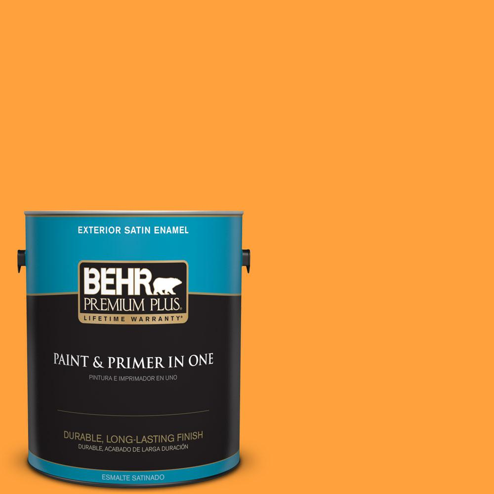 BEHR Premium Plus 1-gal. #S-G-300 Hawaiian Passion Satin Enamel Exterior Paint