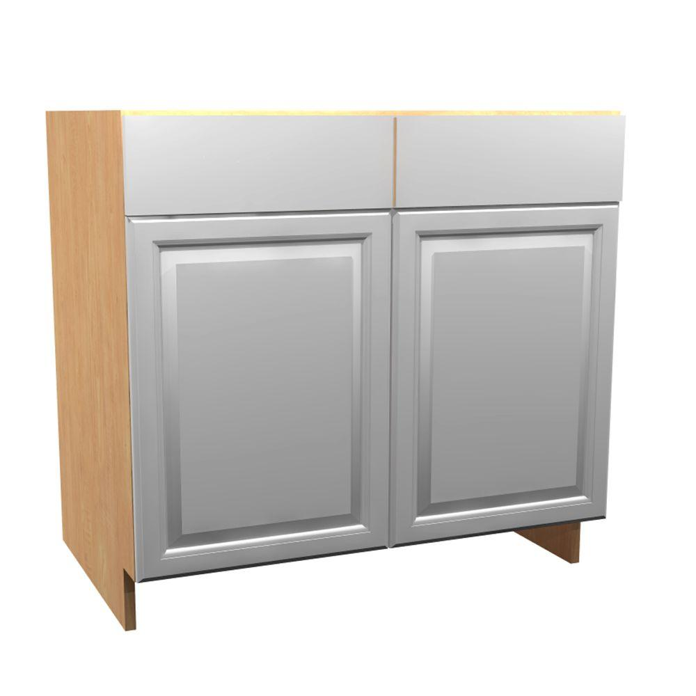 36x34.5x24 in. Anzio Sink Base Cabinet with 2 Soft Close Doors