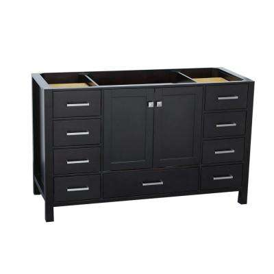 Cambridge 54 in. W Vanity Cabinet Only in Espresso