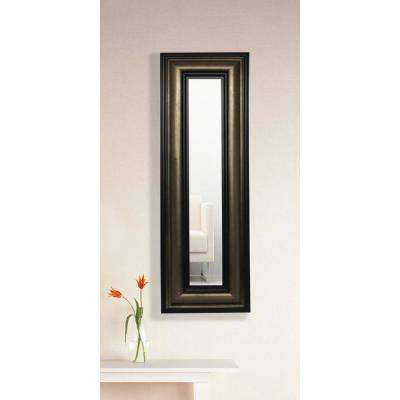 13 in. x 29 in. Stepped Antiqued Vanity Mirror Single Panel