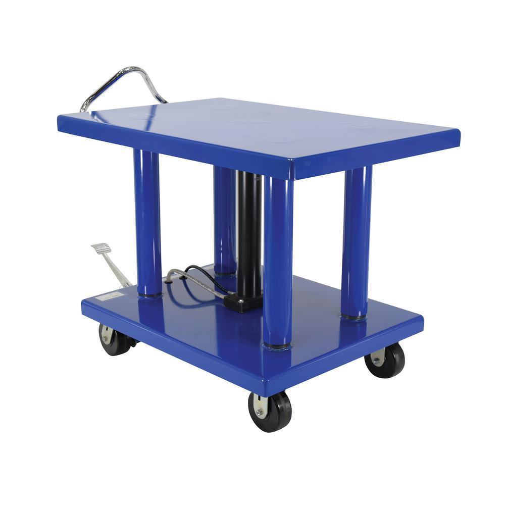 Vestil 32 in  x 48 in  6,000 lb  Hydraulic Post Table