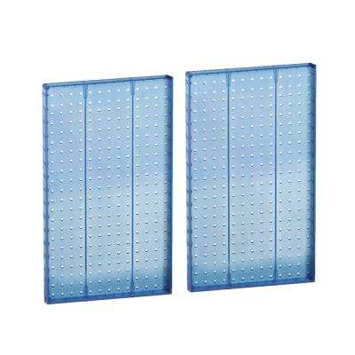 22 in H x 13.5 in W Pegboard Blue Styrene One Sided Panel (2-Pieces per Box)