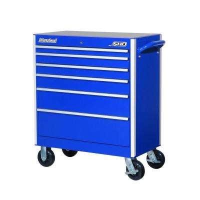 SHD Series 35 in. 6-Drawer Cabinet, Blue