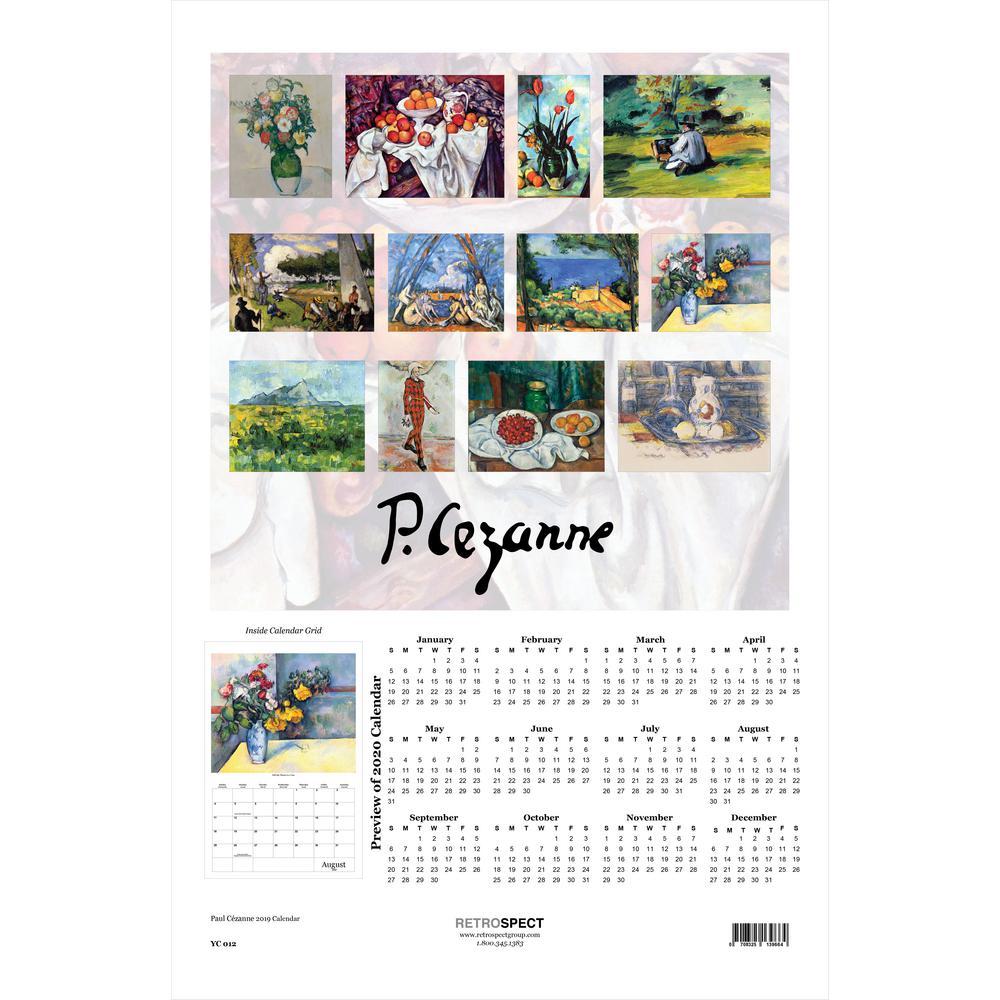 19 in. x 12.5 in. Paul Czanne - 2019 Calendar