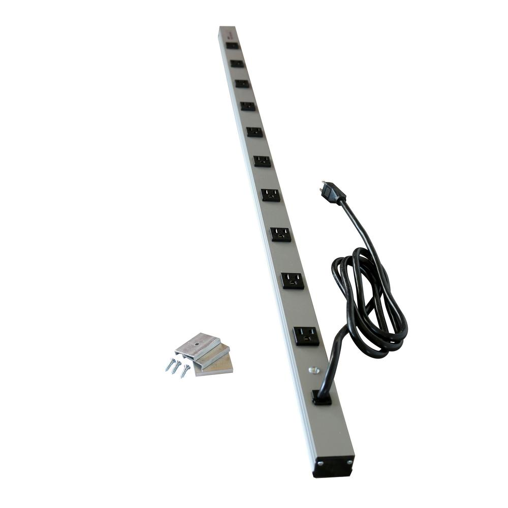 legrand wiremold cabinetmate 10 outlet 15 amp power strip 6 ft rh homedepot com