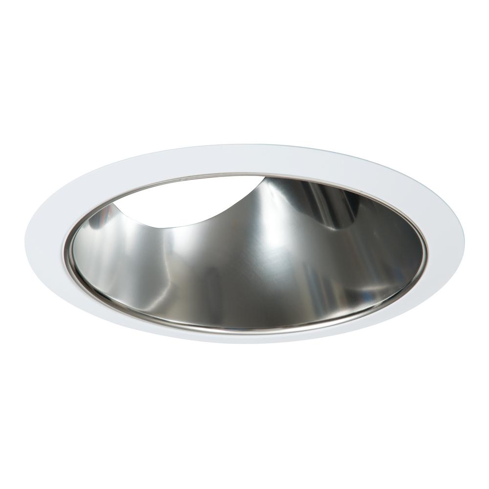 Halo 6 In Slope Ceiling White With Clear Specular Reflector Recessed Trim