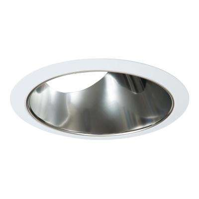 6 In Slope Ceiling White With Clear Specular Reflector Recessed Trim