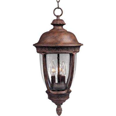 Knob Hill Die Cast 3-Light Sienna Outdoor Hanging Lantern