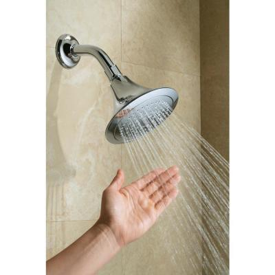 Forte Katalyst 1-Spray 5.5 in. Single Wall Mount Fixed Rain Shower Head in Polished Chrome