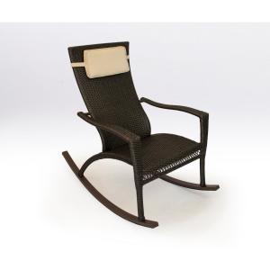 Tortuga Outdoor Maracay Tortoise Wicker Oversized Outdoor Rocking Chair With Head Cushion Mar Rc Tort The Home Depot