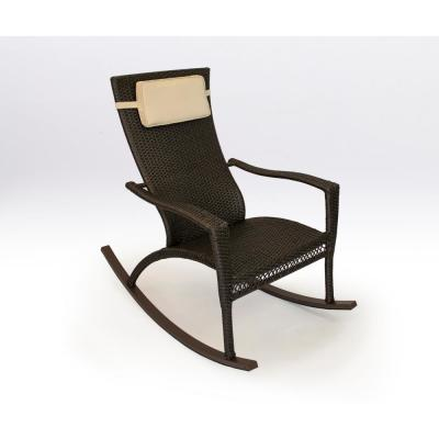 Maracay Tortoise Wicker Oversized Outdoor Rocking Chair with Head Cushion