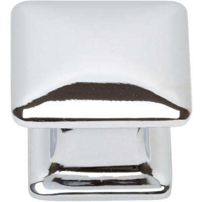 Alcott Collection 1-1/4 in. Polished Chrome Square Cabinet Knob