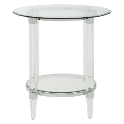 Amelia Clear Acrylic Glass End Table
