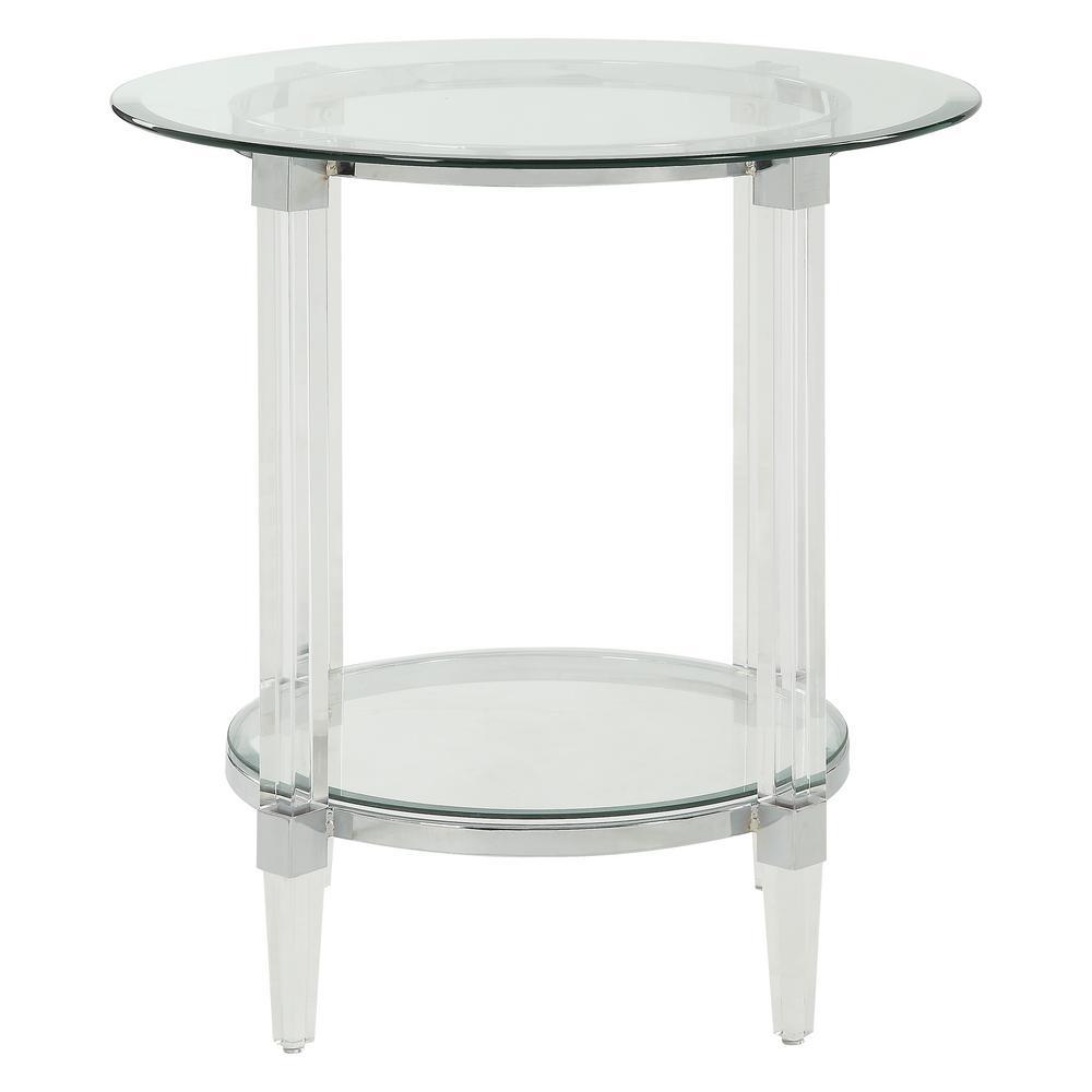 Amelia Clear Acrylic Glass End Table