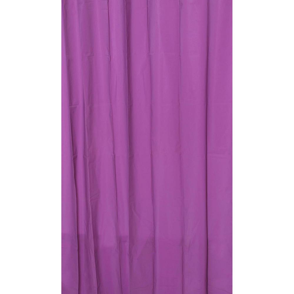 Eva 71 in. x 79 in. Purple Solid Bath Shower Curtain