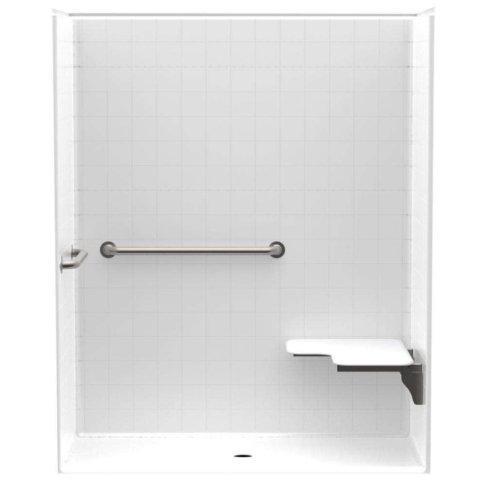 Accessible Smooth Tile AcrlyX 60 in. x 34 in. x 74.9