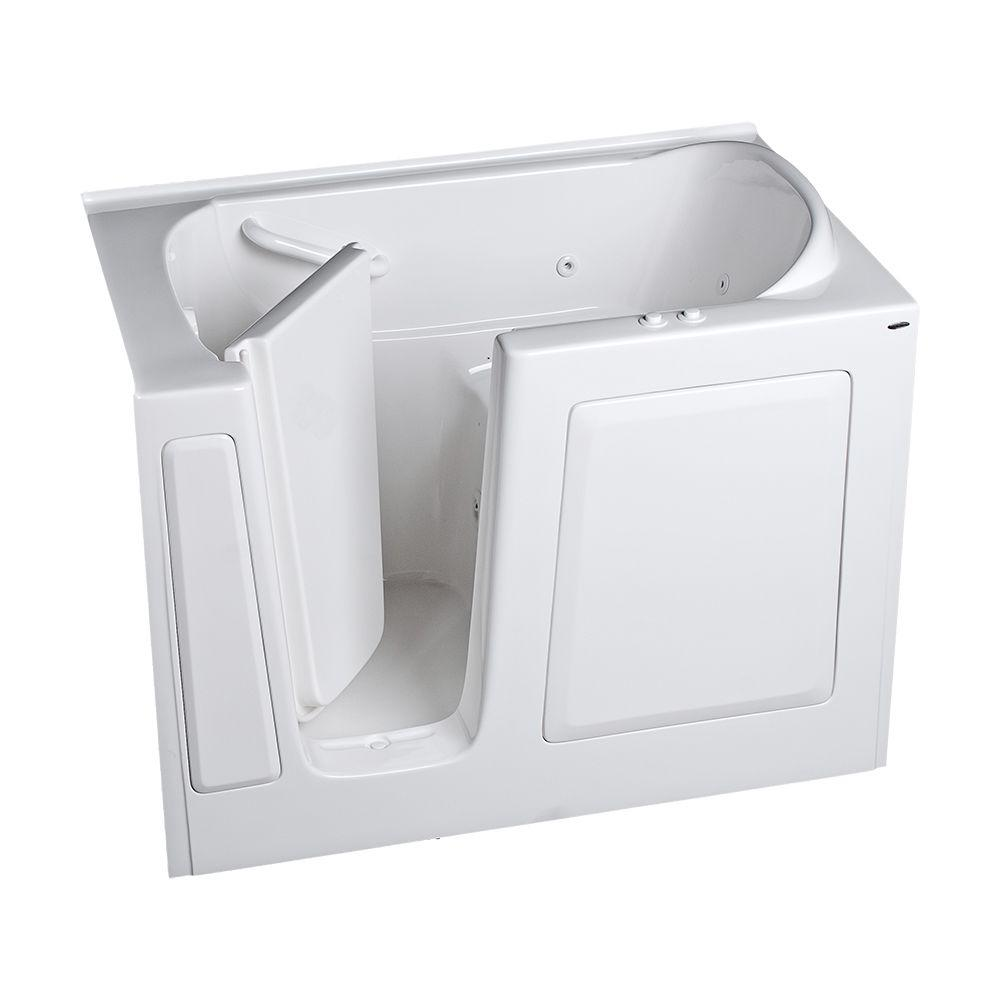 American Standard Gelcoat Standard Series 51 in. x 31 in. Walk-In Whirlpool and Air Bath Tub in White