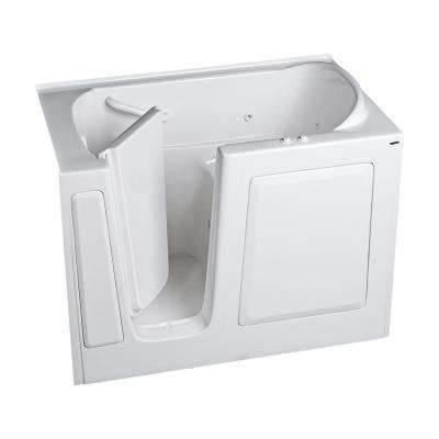 Gelcoat Standard Series 51 in. x 31 in. Walk-In Whirlpool and Air Bath Tub in White