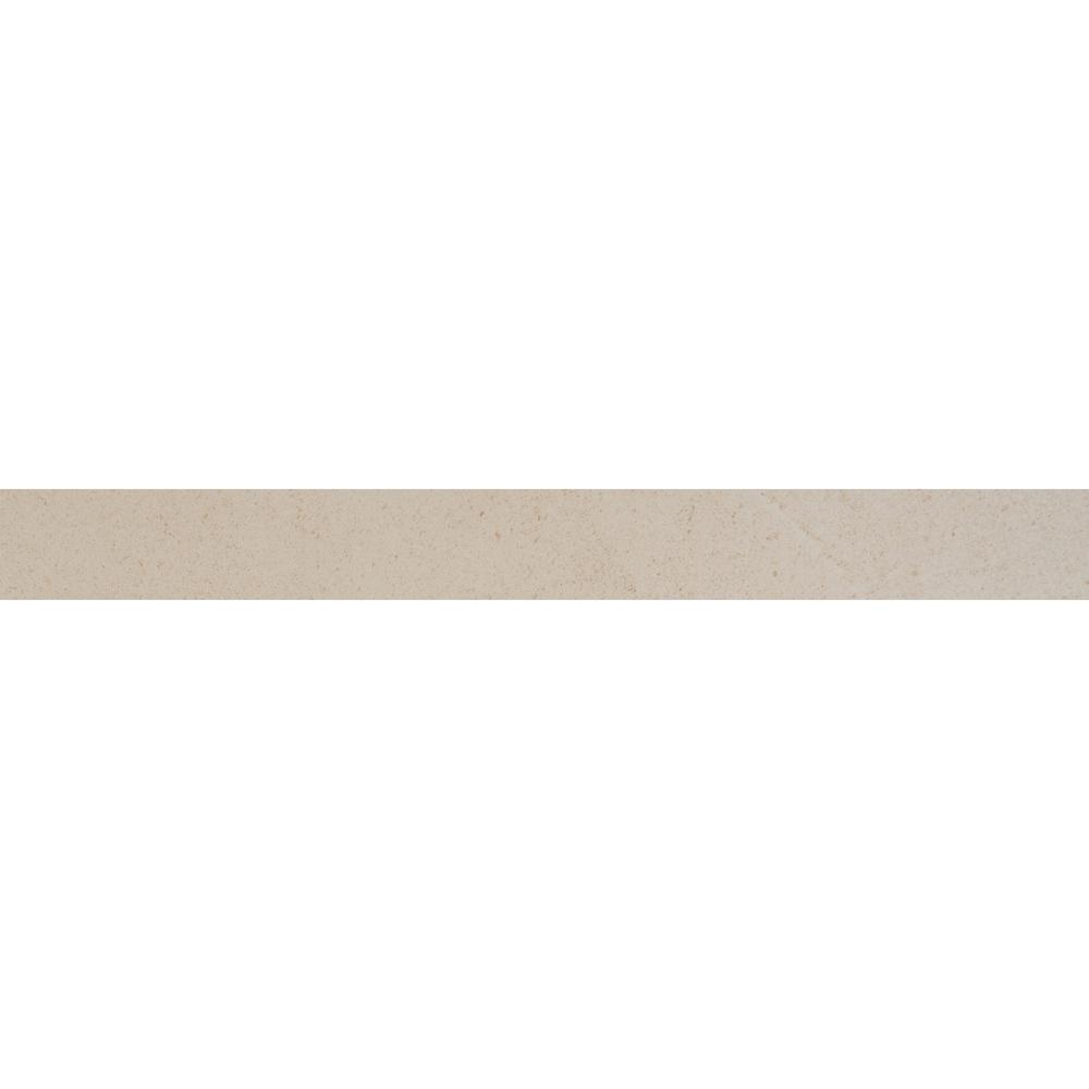 Msi Living Style Cream Bullnose 2 in. x 24 in. Glazed Porcelain Wall Tile (12-Pieces / 24 lin. ft. / case), Brown