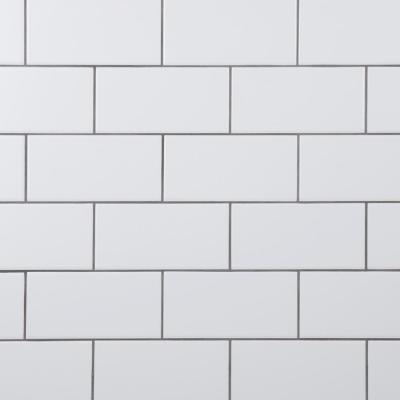 Crown Heights 3 in. x 6 in. Ceramic Matte White Wall Tile (6.03 sq. ft. /Case)