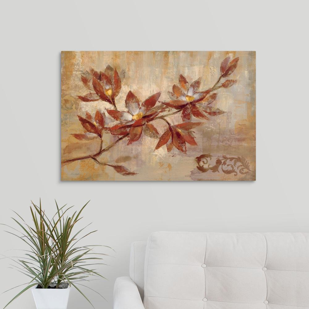 GreatBigCanvas ''Copper Branch'' by Silvia Vassileva Canvas Wall Art 1051621_24_30x20