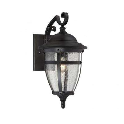 Ireland 1-Light English Bronze Outdoor Wall Mount Lantern